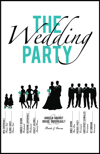 Wedding Party Card