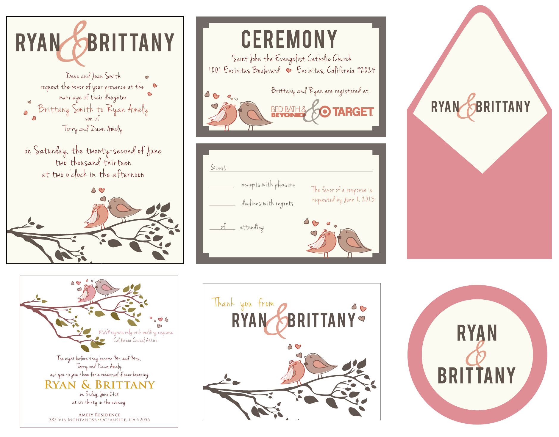 Love Bird Wedding Set