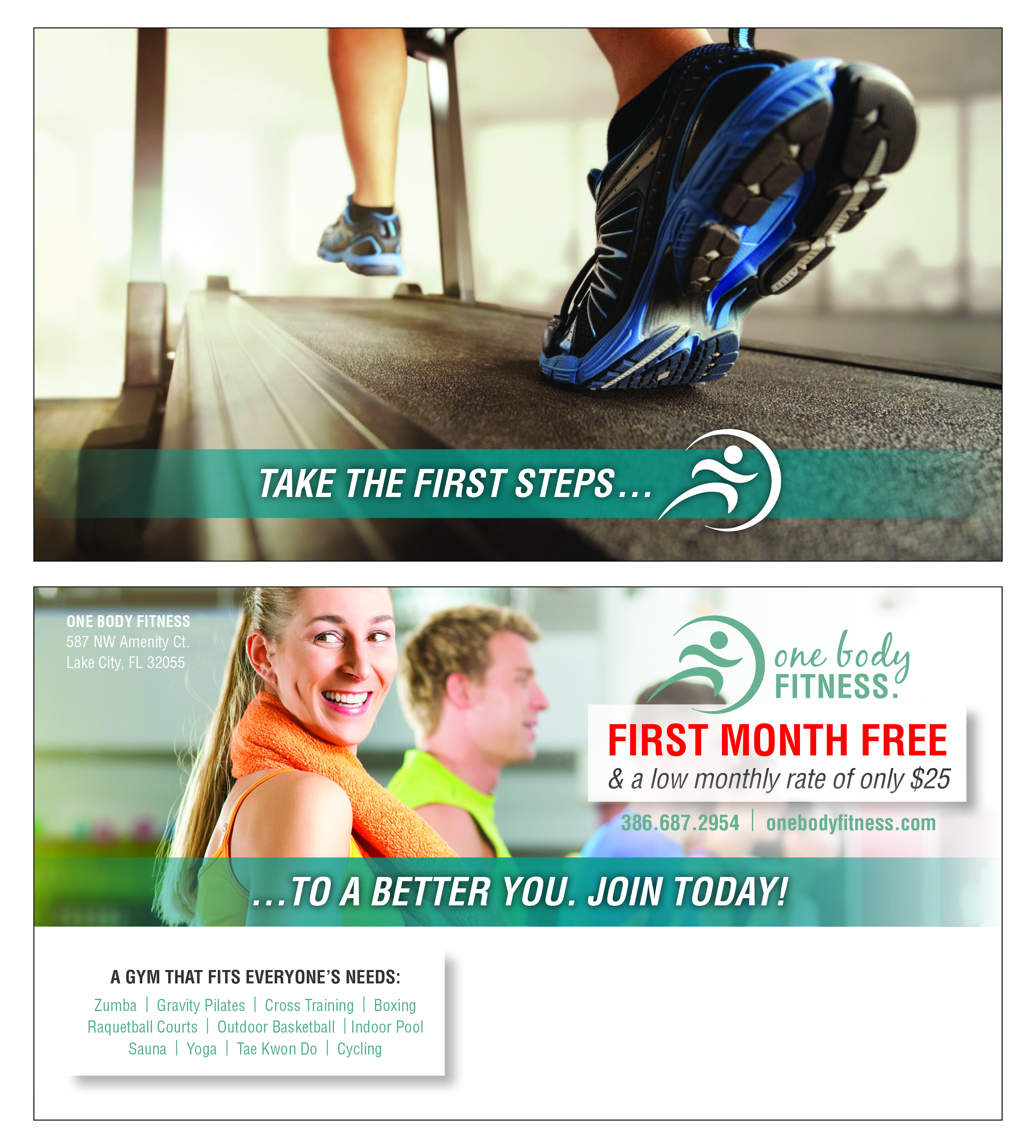 Postcard for Gym - Direct Mail Campaign